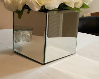 Mirror box centerpiece, weddings, bridal shower, christening, home decor