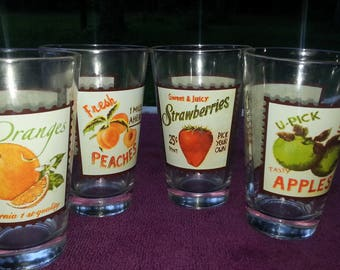 Old Time Juice Glasses