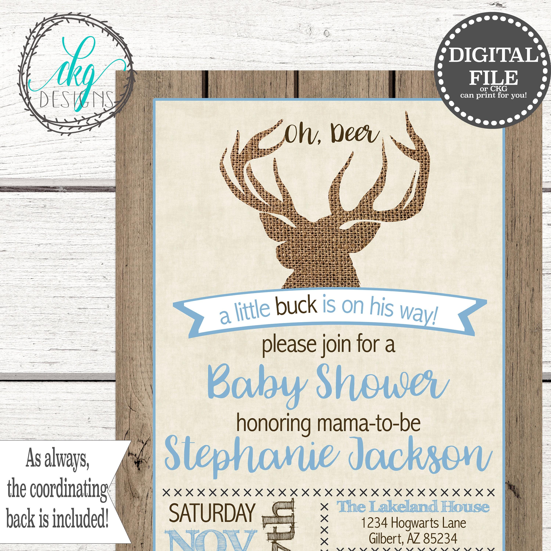 Oh Deer Baby Shower Invitation | Oh Deer Shower Invite | Deer Baby Shower  Invitation |