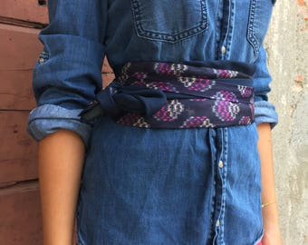Obi Belt made with vintage ties