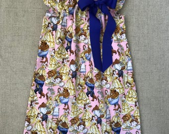 Beauty and the Beast flutter sleeve dress