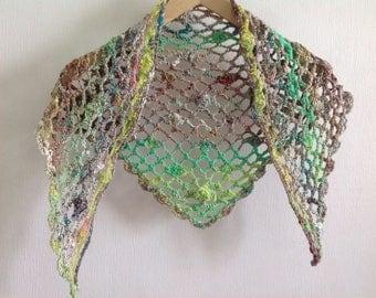 Crocheted summer wrap Noro