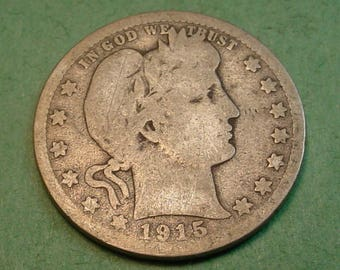 1915-D  Barber Quarter The Coin you see is the Coin You Get <> # ET1089