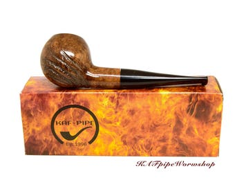 Briar Smoking pipe #6/Tobacco pipe/Pipe for smoking/Wooden handcrafted rusticated pipe/Pipa/Pfeife/Gift for Groom/Briar wood pipe