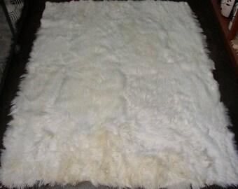 100% Peruvian Baby Alpaca Fur Rug White 57u0027u0027 ...