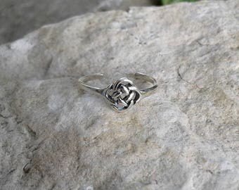 Toe Ring, Solid Sterling Silver Toe Ring, Celtic Endless Knot Toe Ring, Celtic Jewelry, Body Jewelry