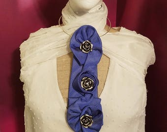 Upcycled Mens Tie Neckwear into Fashionable Statement Necklace and Accessory