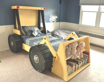Construction Truck Bed PLANS (in digital format) - For a DIY Construction Themed Room - Kid Bedroom Decor