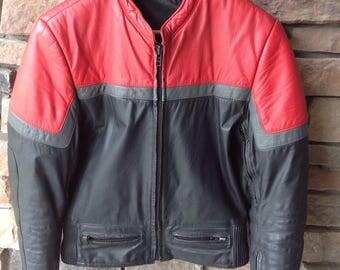 Vintage Vetter Leather Motorcycle Jacket / Mens Size 38