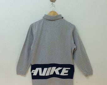 Vintage 90's Kid's Nike Collar T-Shirt Small Embroidery Logo Spell Out Nice Design