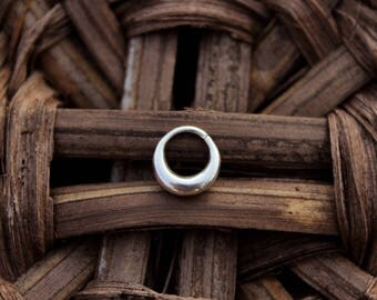 Simple Septum Silver Thick Septum small silver septum ring Creole septum Unisex septum Men discreet septum tribal Cartilage ring conch ring