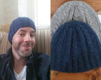 Hand Knit Cable Knit Beanie