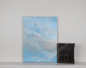 "Acrylic Fluid Painting ""Satellite"" 12""x16"""
