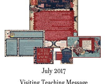 2017 July Visiting Teaching Message: That They May Be One