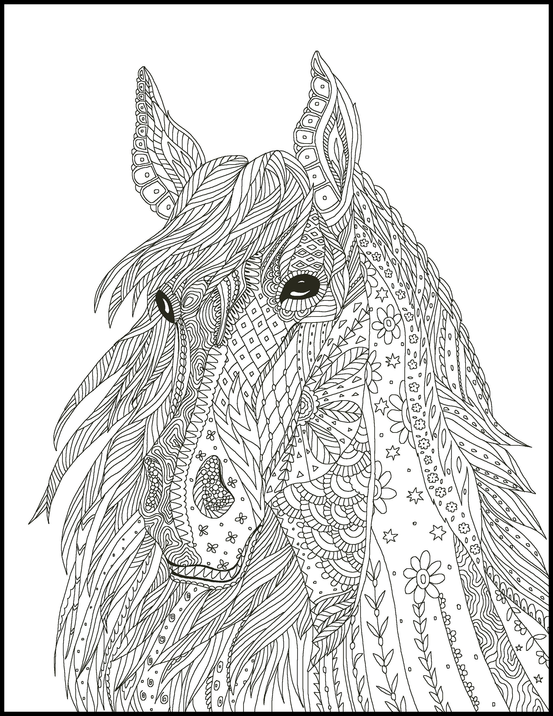 coloring book pages of horses - photo#49