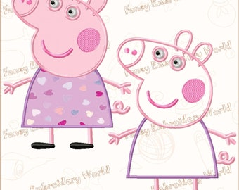 BOGO FREE! Peppa's Mommy applique embroidery design, machine embroidery design, embroidery designs. Instant download,5 sizes,8 formats #2027