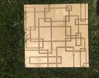 Carved Wood Wall Art - Rectangles