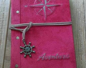 Suede notebook handmade