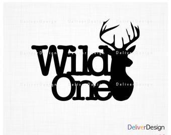 Wild One Deer Head SVG, PNG File
