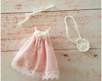 3 piece pink clothingset for petite blythe