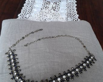Belt vintage rhinestones and metal
