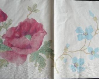 Watercolor pink way napkin