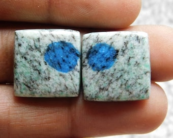 Pair ! Top quality k2 jasper gemstone Excellent cabochons handmade loose gemstone beautiful smooth polish 100% natural 41.10cts, (19x19x5)mm