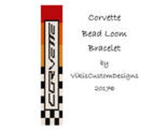 Corvette Bead Loom Bracelet Pattern by VikisCustomDesigns