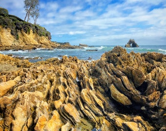 Little Corona Del Mar Photograph Print, Sea Arch, Beach, Ocean, Water, Orange County California, Home Decor, Wall Art, Photography