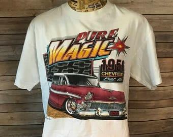 Vintage 90s Pure Magic 1954 Chevrolet Bel Air T-Shirt (L)