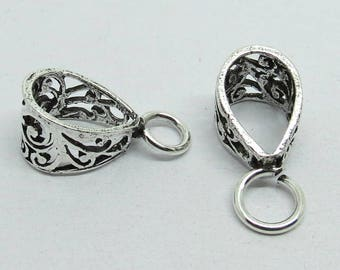 1 Piece Pendant Bail Loop 925 Sterling Silver  23x10mm