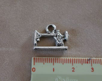 Plated silver 18mm sewing machine (x 2)