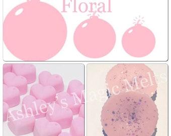 Floralbomb perfume designer dupe type soy wax melts, designer dupe melts, perfume dupe melts, cheap wax melts, cheap wax melts, uk wax melts
