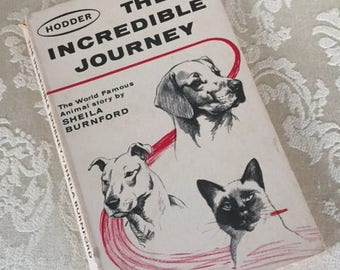 The Incredible Journey by Sheila Burnford 1963 Paperback vintage book