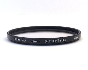 Vivitar 62mm Skylight (1A) Lens Filter - 62mm Skylight Filter for Photography