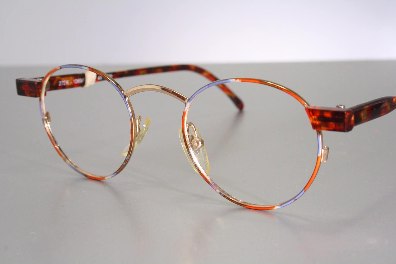 Unworn NORDIC OPTICAL Women\'s Colorful Orange Tone Austrian Eyeglass ...