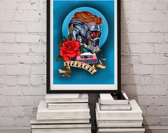 Starlord Tattoo Print