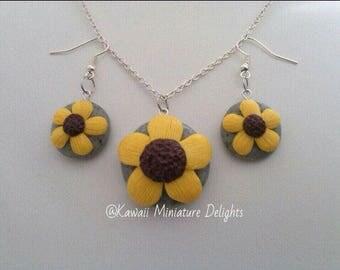 Sunflower Jewelry Set