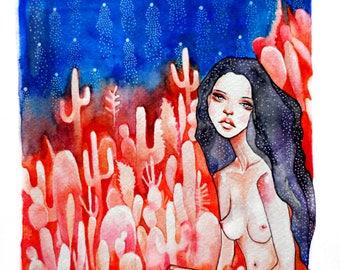 Starchild - Original Watercolor