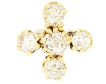 14K Victorian 1890's's Diamond Pin