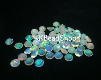 3mm Ethiopian Opal Faceted Round Stone | Opal Loose Stone | 3mm Opal Round Faceted Stone | Loose Opal Stone | Calibrated Opal Round Bead Lot