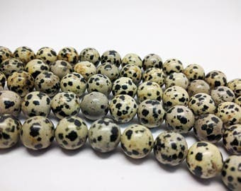 Jasper Beads Natural Jasper Beads Round Jasper Beads Large Beads 12mm Beads for Jewelry Making Dalmation Jasper Necklace Beads for Bracelets