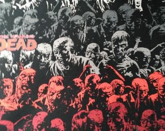 1/4 yard left, Walking Dead fabric, 100% Cotton Comic Book Series Zombie Apocalypse
