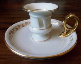 Limoges France porcelain candle holder (#EV260)