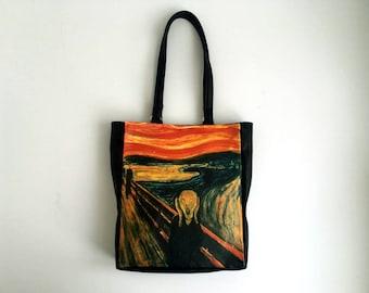The Scream Shopper Bag Faux Leather Tote Bag Edvard Munch Shopping Bag