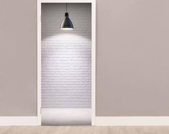 White Wall Door Sticker, Self Adhesive Vinyl, Peel And Stick, Self Adhesive Door Decal , Self-adhesive Decor, Door Mural, Vinyl Door Sticker