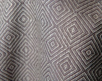 Cotton Linen   Fabric   Grey Linen Fabric   Cotton Fabric   Linen Cotton Fabric   Cotton Blend Fabric   Rhombuses   By The Yard   Flax Linen