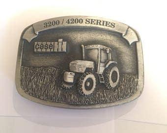 Vintage Fine Pewter Belt Buckle Case IH 3200/4200 Series Tractor