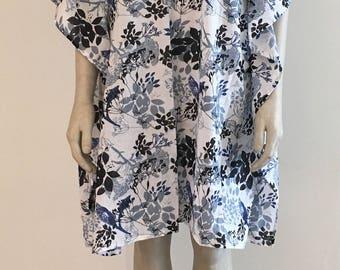 SUMMER SALE - 1 week only! Beach Cotton Kaftan Dress