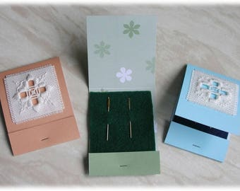 Hardanger needle book kits, set of three